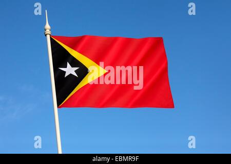 Flag of the Democratic Republic of Timor-Leste - Stock Photo