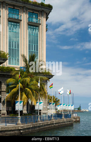Mauritius, Port Louis, Caudon Waterfront, IBL office building - Stock Photo