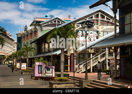 Mauritius, Port Louis, Caudon Waterfront, seafront, bars, restaurants, offices and shops - Stock Photo