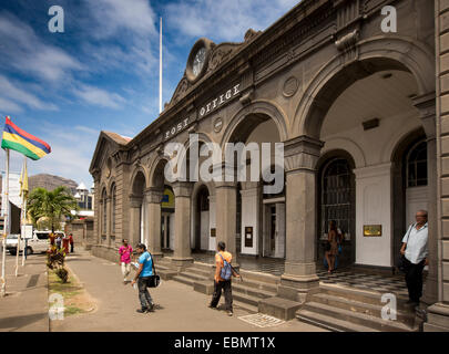 Mauritius, Port Louis, Caudon Waterfront, historic colonial era Head Post Office building and Postal Museum - Stock Photo