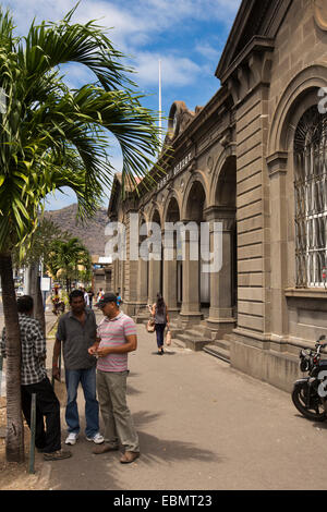 Mauritius, Port Louis, Caudon Waterfront, historic colonial era main Post Office building and postal museum - Stock Photo