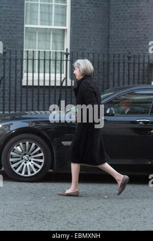 Westminster, London, UK. 3rd December 2014. Home Secretary Theresa May arrives at 10 Downing street for the cabinet - Stock Photo