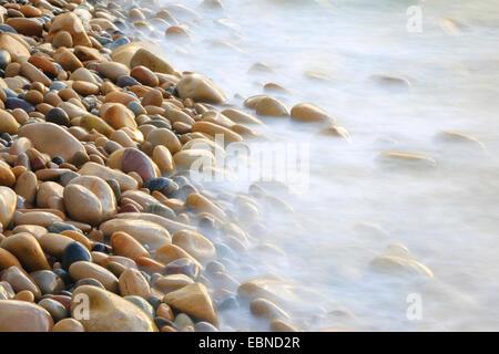 stones on the beach, United Kingdom, England - Stock Photo
