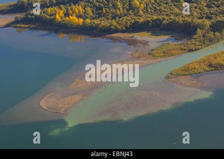 Chiemsee and Tiroler Achen river delta, Hirschau bay, Germany, Bavaria, Lake Chiemsee - Stock Photo