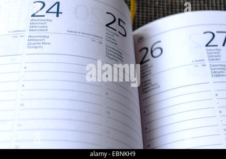 Business Notepad on wooden table - Stock Photo