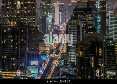 Bangkok Sukhumvit road twilight - Stock Photo