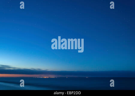 stars over island Juist, Germany, Lower Saxony, Norddeich - Stock Photo