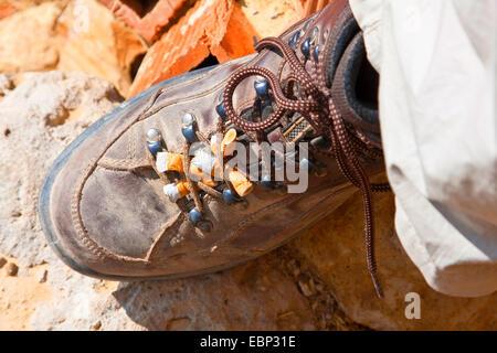 Way of St. James, ashtray for pilgrims, Spain, Castile and Leon, Palencia - Stock Photo