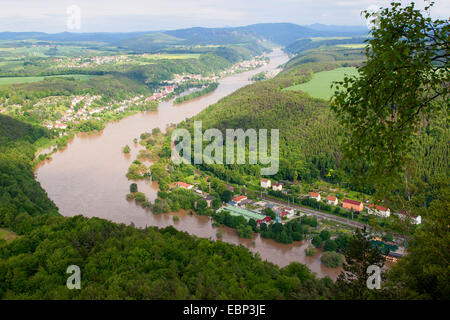 Elbe flood in summer 2013, Germany, Saxony - Stock Photo