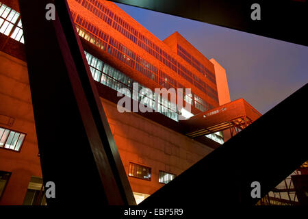 coal washing plant Zollverein Coal Mine Industrial Complex at night, Germany, North Rhine-Westphalia, Ruhr Area, - Stock Photo