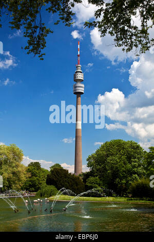 Florian tower in Westfalenpark, Germany, North Rhine-Westphalia, Ruhr Area, Dortmund - Stock Photo