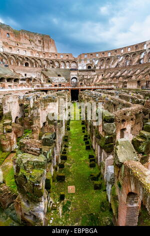 The Colosseum or Coliseum, also known as the Flavian Amphitheatre is an elliptical amphitheatre in Rome, Italy. - Stock Photo