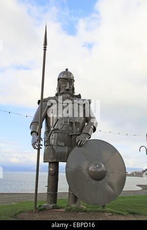 Giant Viking statue known locally as Magnus, Largs, North Ayrshire, Scotland, Great Britain, United Kingdom, UK, - Stock Photo