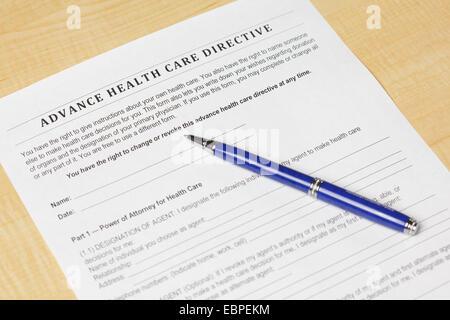 Advance Health Care Directive - Stock Photo