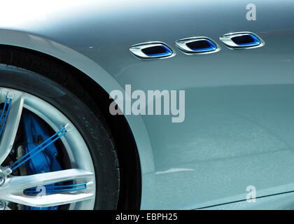 Front Fender Detail Maserati Concept Car - Stock Photo