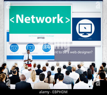 Business People Network Seminar Concept - Stock Photo