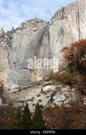 Upper Yosemite Fall. Yosemite Valley, Yosemite National Park, Mariposa County, California, USA - Stock Photo