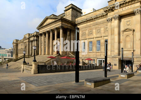 World Museum and Central Library, Liverpool, Merseyside, England, United Kingdom, Europe - Stock Photo
