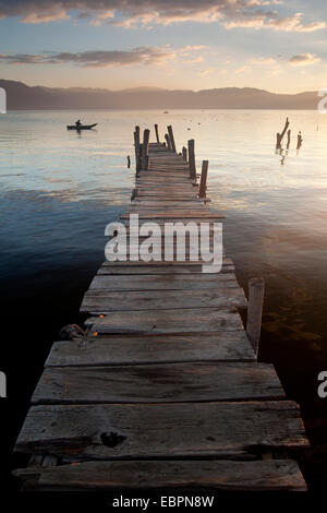 Lago Atitlan, Guatemala, Central America - Stock Photo