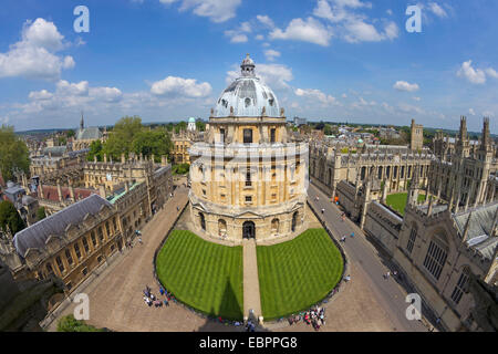 Radcliffe Camera and All Souls College from University Church of St. Mary the Virgin, Oxford, Oxfordshire, England, - Stock Photo