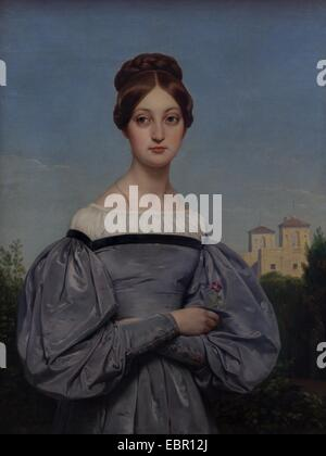 ActiveMuseum 0001660.jpg / Portrait of Louise Vernet, Daughter of the Artist, circa 1840 - Horace Vernet Oil on - Stock Photo