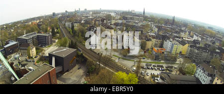 aerial view to Bochum City, Germany, North Rhine-Westphalia, Ruhr Area, Bochum - Stock Photo