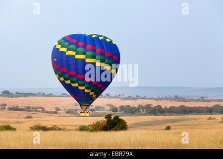 baloon safari at Masai Mara in the morning, Kenya, Masai Mara National Park - Stock Photo