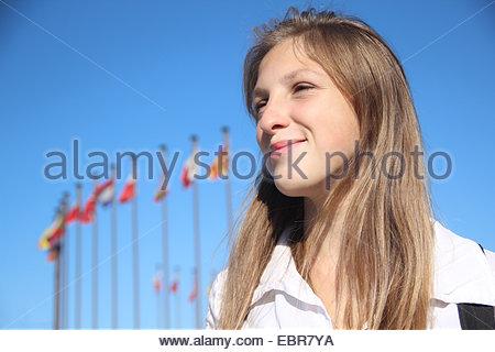 beautiful girl student - Stock Photo