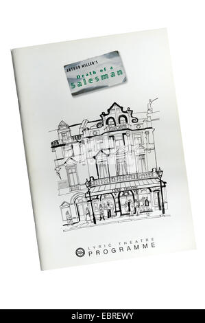 Programme for the 2005 production of Death of a Salesman by Arthur Miller at the Lyric Theatre. - Stock Photo