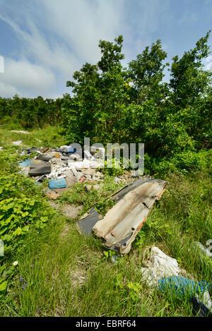 illegal waste disposal in Turkey, Turkey, Thrace - Stock Photo