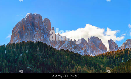 north side of Langkofel, Italy, South Tyrol, Dolomites - Stock Photo