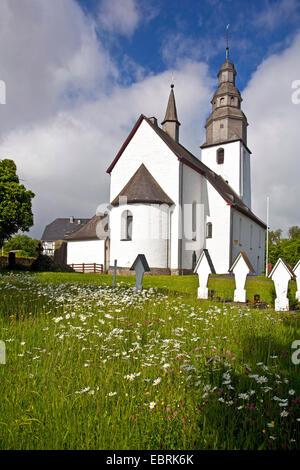Romanic church Sankt Peter und Paul in Wormbach, Germany, North Rhine-Westphalia, Sauerland, Schmallenberg - Stock Photo