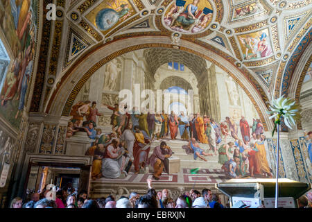 Vatican City: Raffael's 'The School of Athens' Vatican Museums. Photo from 4th September 2014. Stock Photo