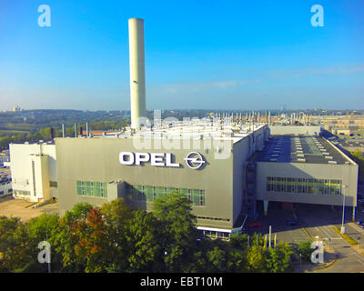 aerial view of Opel's manufacturing plant in Bochum, Germany, North Rhine-Westphalia, Ruhr Area, Bochum - Stock Photo