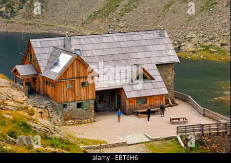 Refuge de Nice in the valley of marvels, Vallee des Merveilles , France, Alpes Maritimes, Mercantour National Park, - Stock Photo