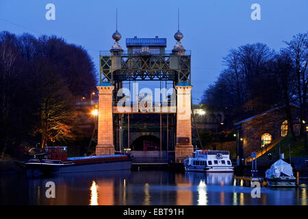 Henrichenburg boat lift, Germany, North Rhine-Westphalia, Ruhr Area, Waltrop