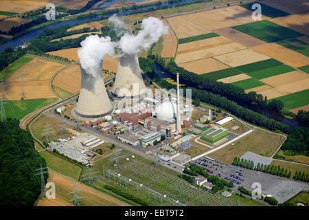 nuclear power station Grafenrheinfeld, Germany, Bavaria - Stock Photo