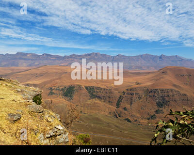 panorama at Giant's Castle mountains, South Africa, Kwazulu-Natal, Drakensberge - Stock Photo
