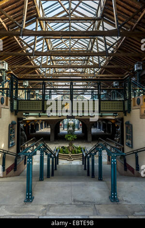 Tobacco Dock is a Grade I listed warehouse in the Docklands area of East London and served as a store for tobacco. - Stock Photo