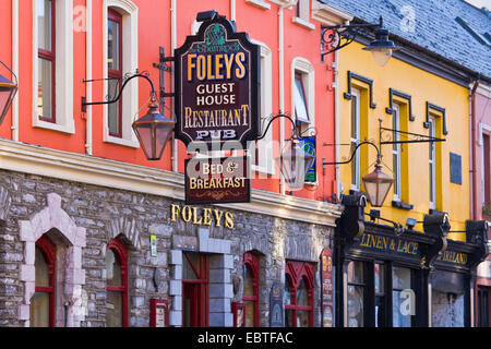 houses in Kenmare, Ireland, Ring of Kerry, Kenmare - Stock Photo