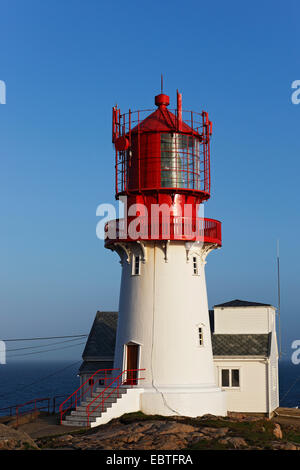 Lindesnes lighthouse, Norway - Stock Photo
