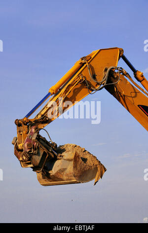 excavator at the work, Germany - Stock Photo