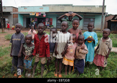 group of african children, Uganda - Stock Photo