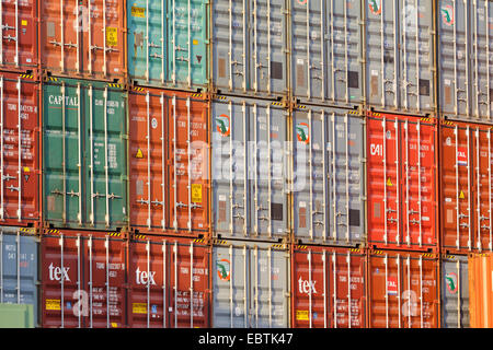 container in Dortmund harbour, Germany, North Rhine-Westphalia, Ruhr Area, Dortmund - Stock Photo