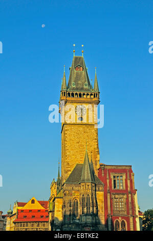 old townhall on Old Town Square in Prague, Czech Republic, Prague - Stock Photo