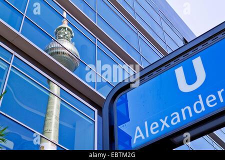 underground station Alexanderplatz at Alexander square, Germany, Berlin - Stock Photo