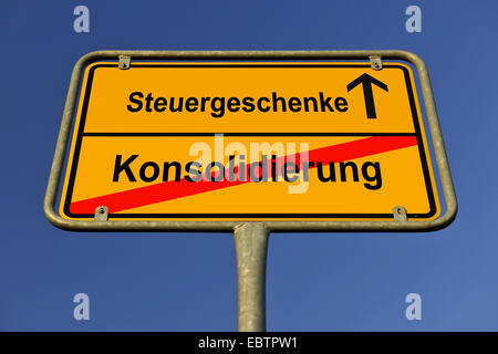 Place Name Sign Symbol For Conflict Between New Indebtedness And