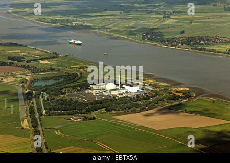 Unterweser Nuclear Power Plant, Germany, Lower Saxony - Stock Photo