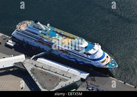 cruise ship Aida Cara, Germany, Kiel - Stock Photo