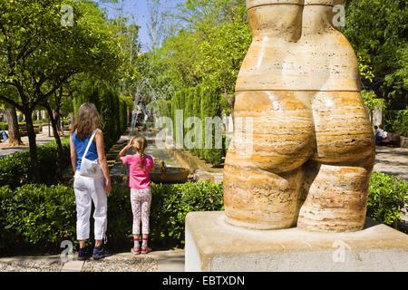 statue in park S'Hort del Rei in Palma, Spain, Balearen, Majorca, Palma - Stock Photo